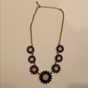 Francescas Dark Purple Statement Necklace